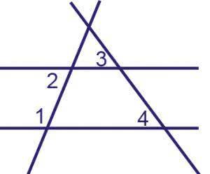 На плоскости даны четыре прямые. Известно, что угол 1=120°, угол 2=60°,  угол 3=55°. Найдите  угол 4.