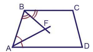 Биссектрисы углов A и B при боковой стороне AB трапеции ABCD пересекаются в точке F. Найдите AB, если AF=24, BF=10.