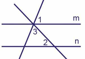 Прямые m и n параллельны. Найдите угол ∠3, если угол ∠1 =66°, угол ∠2=88°.
