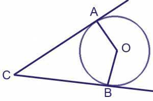 В угол С величиной 68° вписана окружность, которая касается сторон угла в точках А и В. Найдите угол ∠АОВ