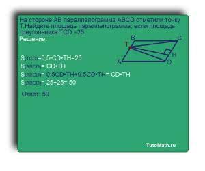 >На стороне AB параллелограмма ABCD отметили точку