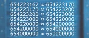 Округление натуральных чисел